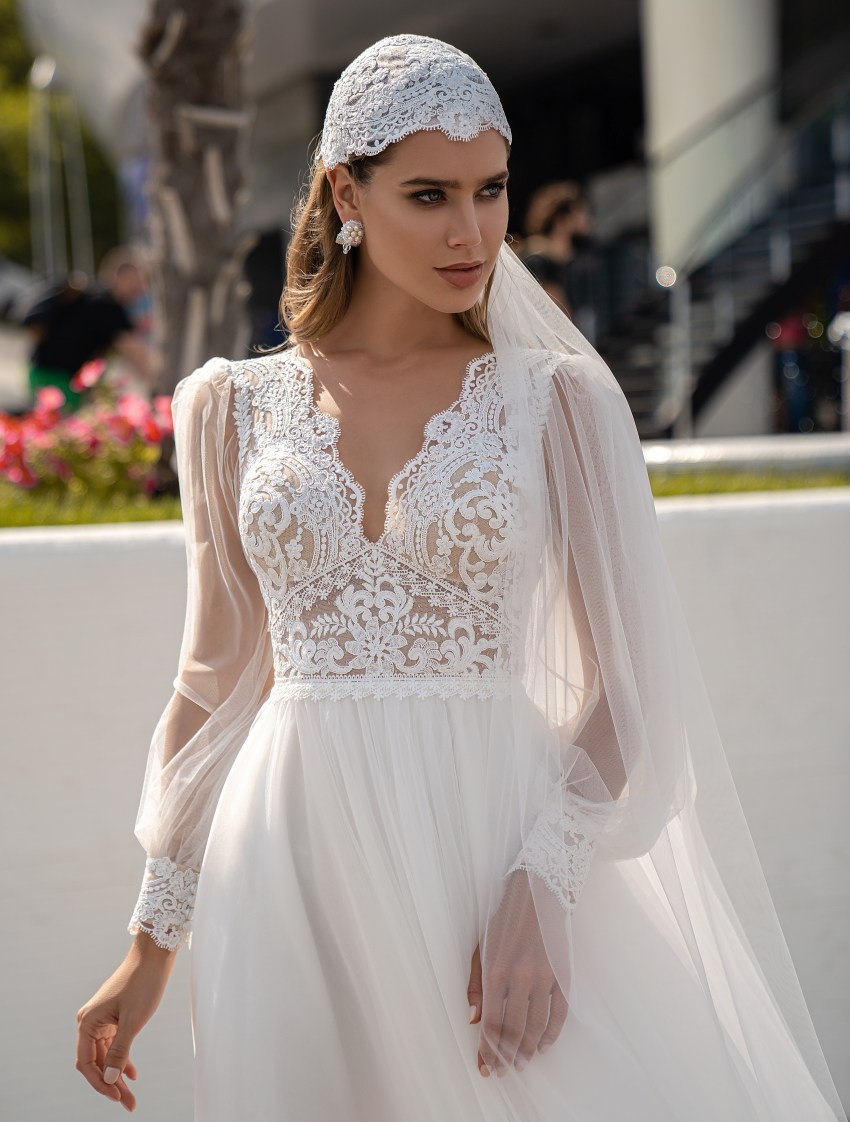 Wedding dress in boho style from Supernova-7