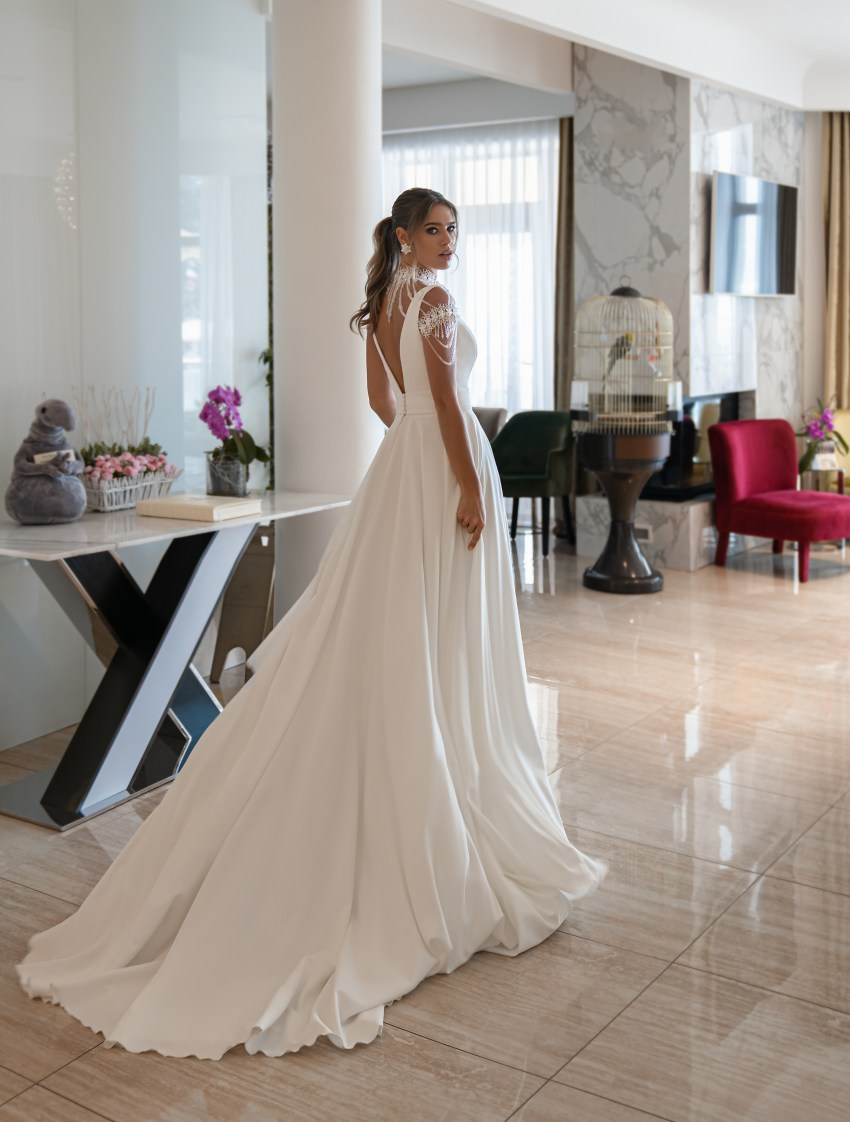 Wedding dress with straps from Supernova-6