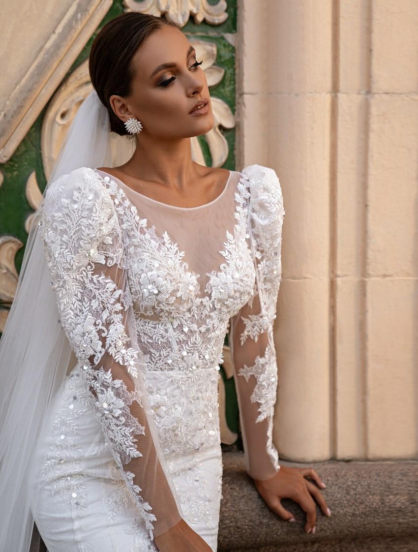 """Wedding dress """"godet"""" silhouette-9"""