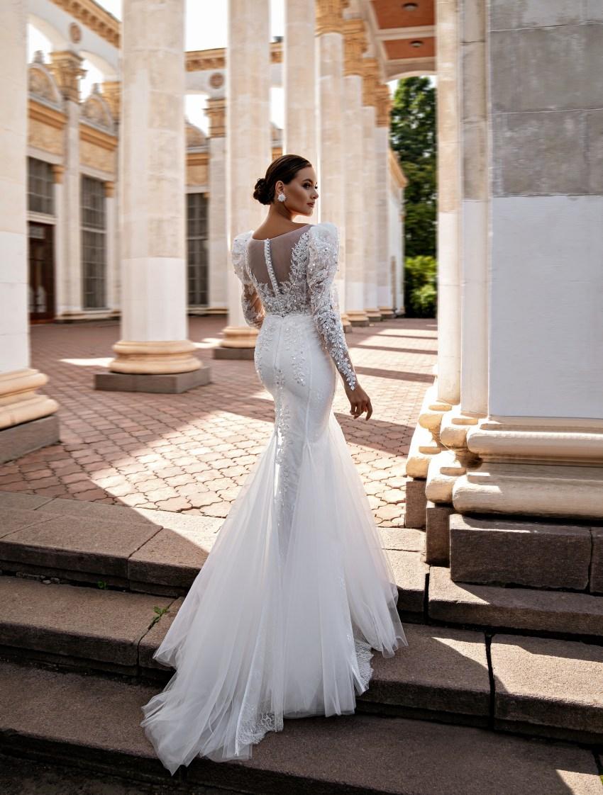 """Wedding dress """"godet"""" silhouette-10"""