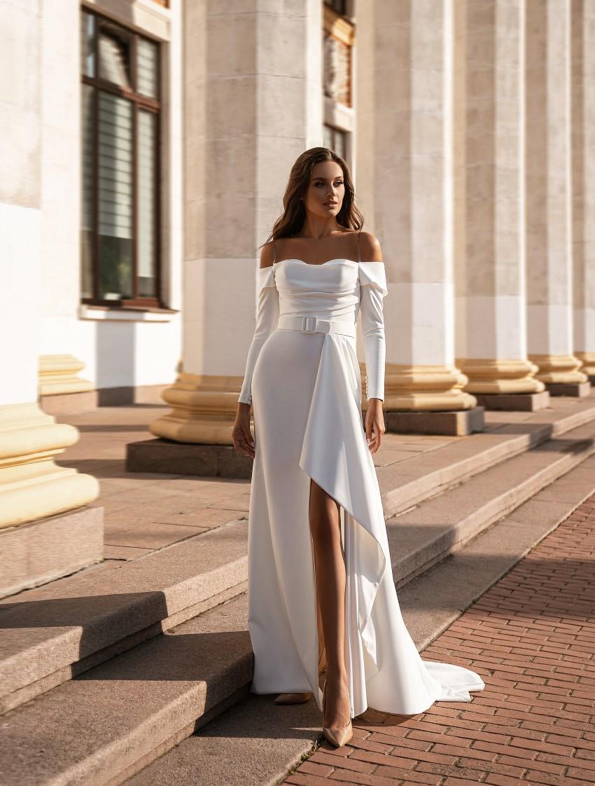 Мінімалістична весільна сукня-5
