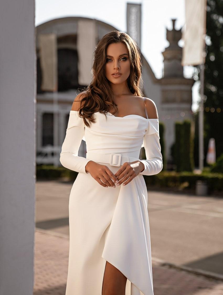 Мінімалістична весільна сукня-6