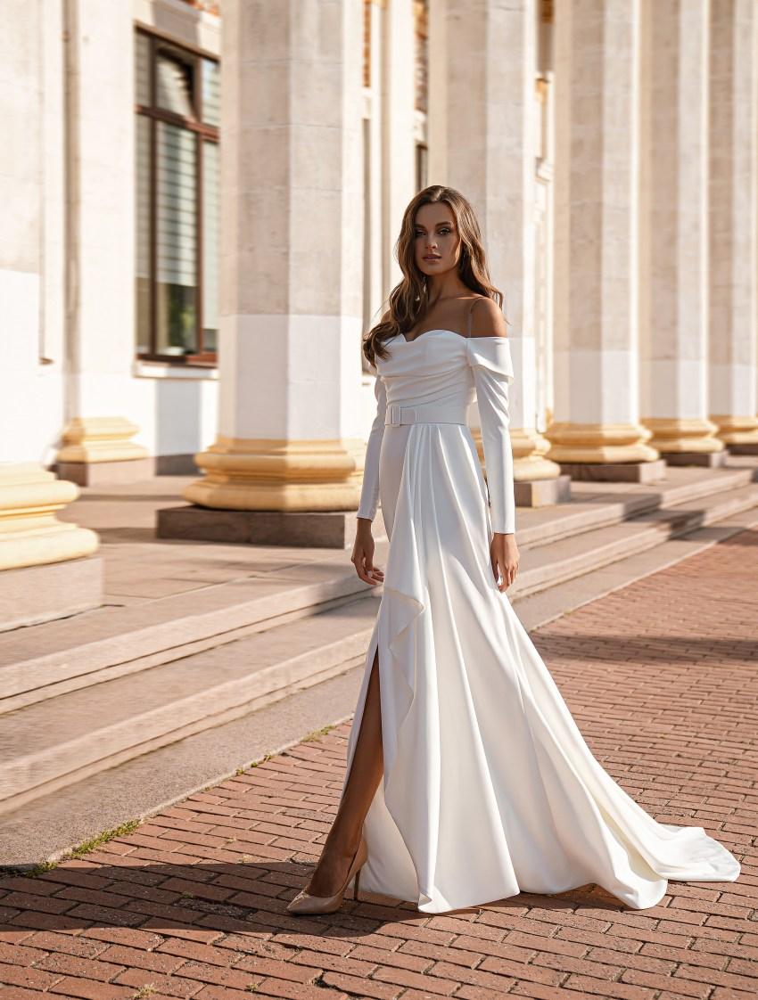 Мінімалістична весільна сукня-7