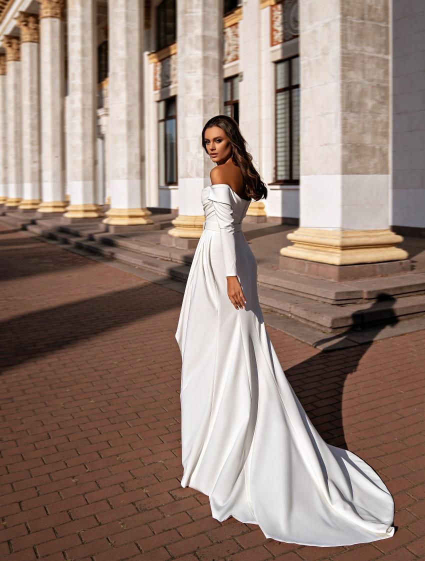 Мінімалістична весільна сукня-8