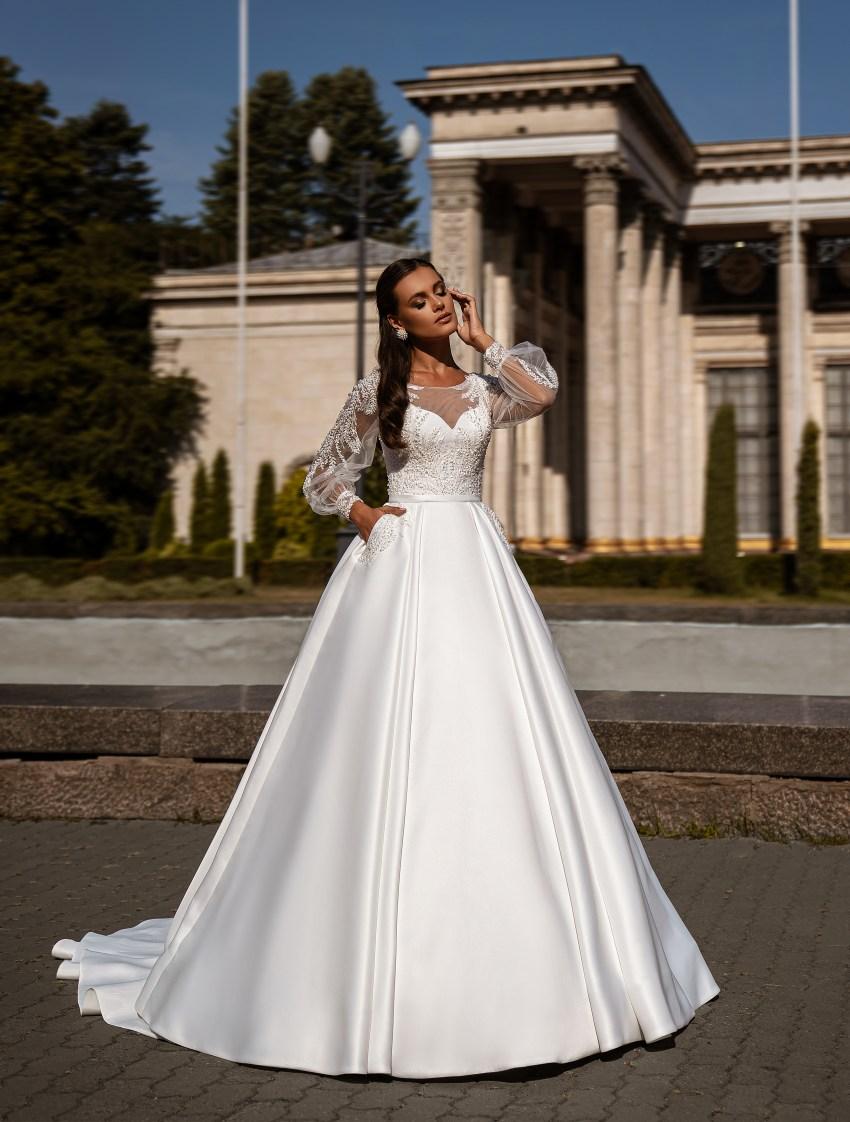 Мінімалістична весільна сукня-10