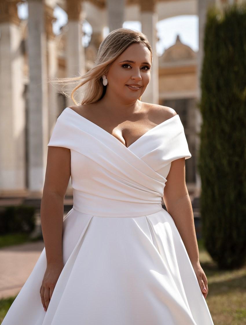 Rochie de mireasă minimalistă-10