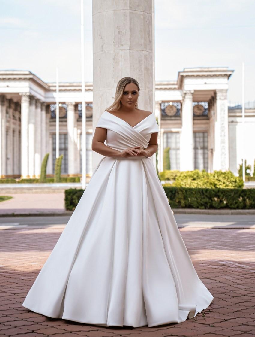 Rochie de mireasă minimalistă-12