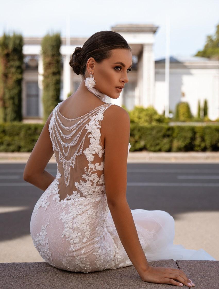 """mermaid"" silhouette wedding dress-6"