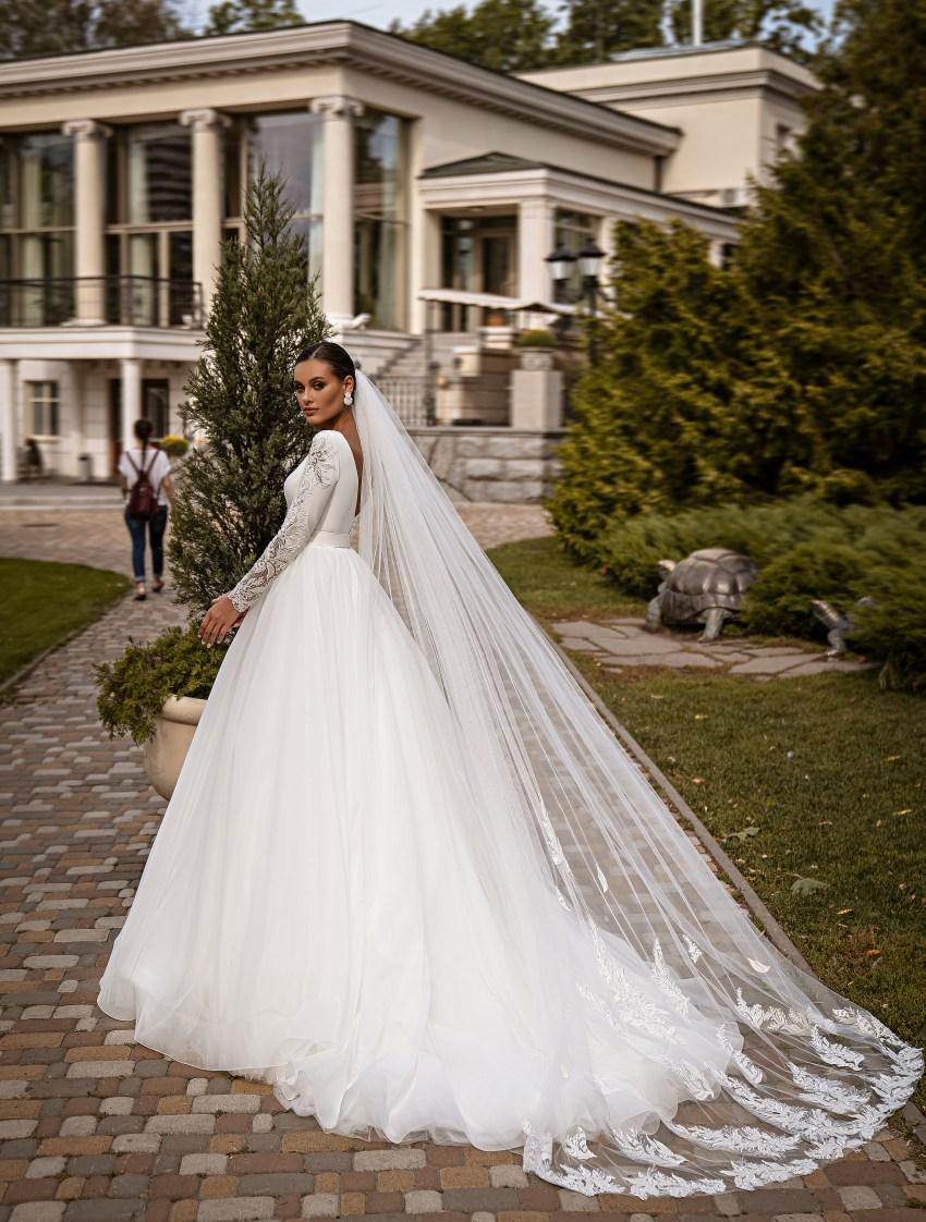 Bесільна сукня з довгими рукавами-6