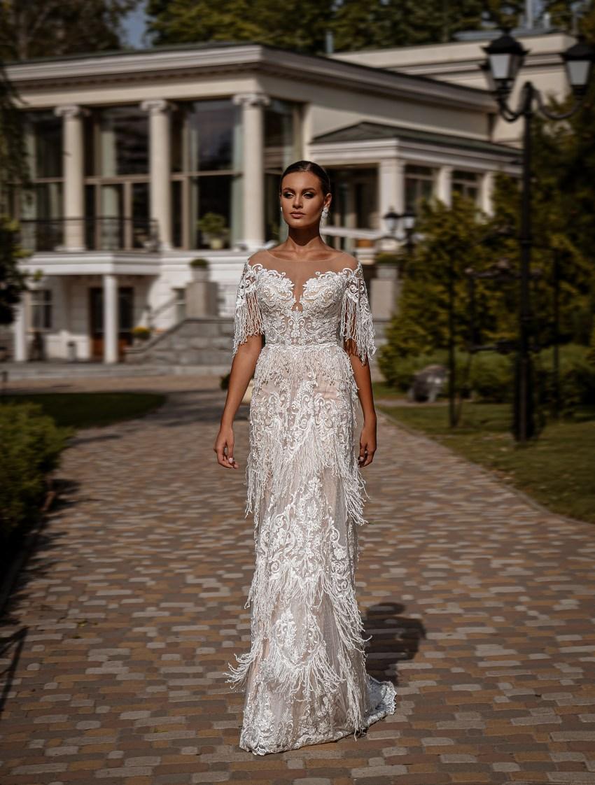 Rochie de mireasă A-siluetă-7