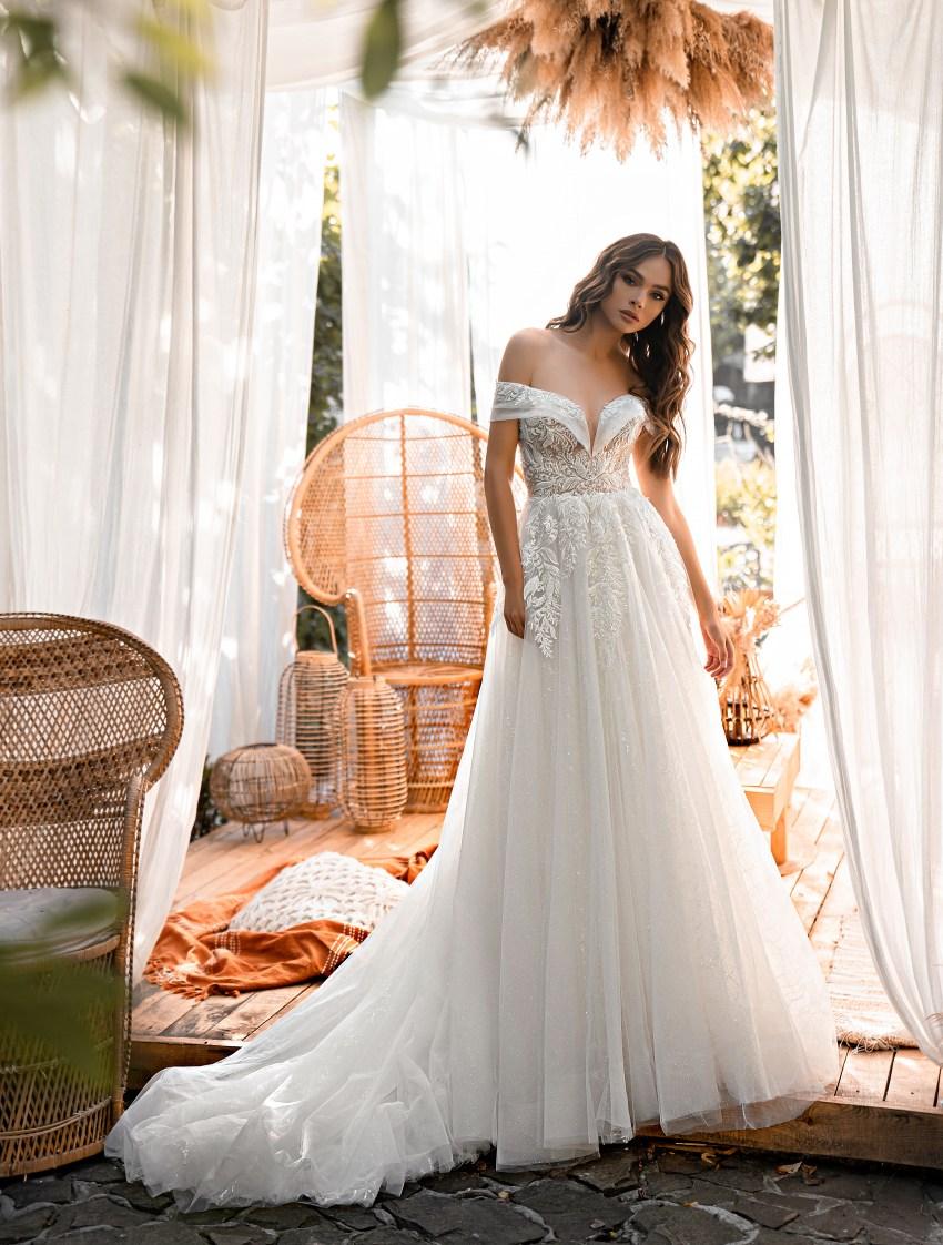 Rochie de mireasă uimitoare stil prițesă-7