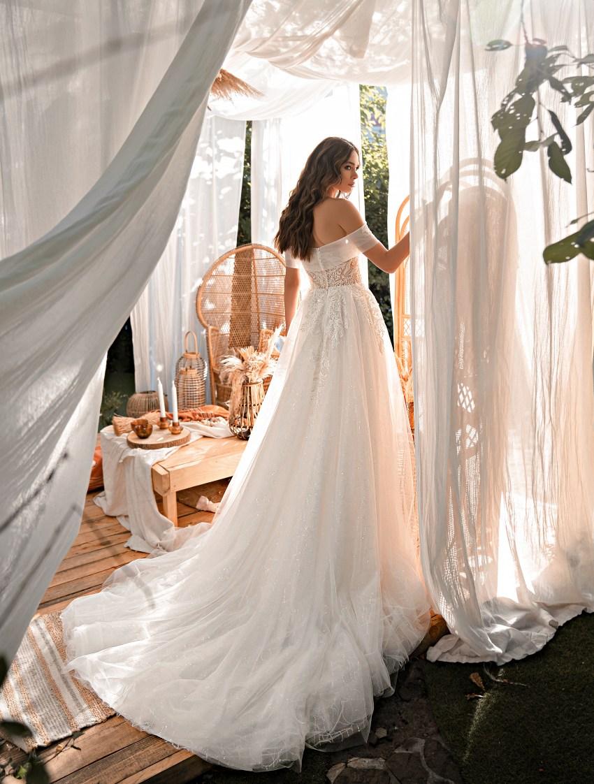 Rochie de mireasă uimitoare stil prițesă-8