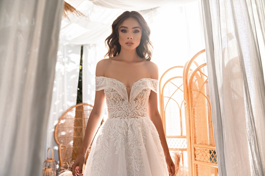 Rochie de mireasă uimitoare stil prițesă-5