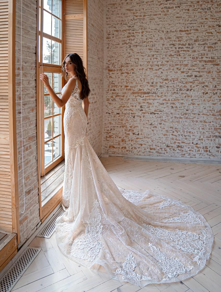 Rochie de mireasă siluetă tip sirenă-6