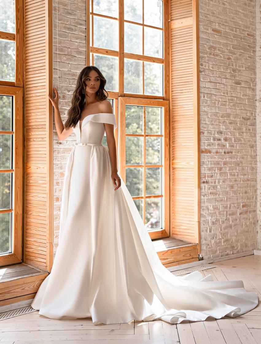 Свадебное платье минимализм-5