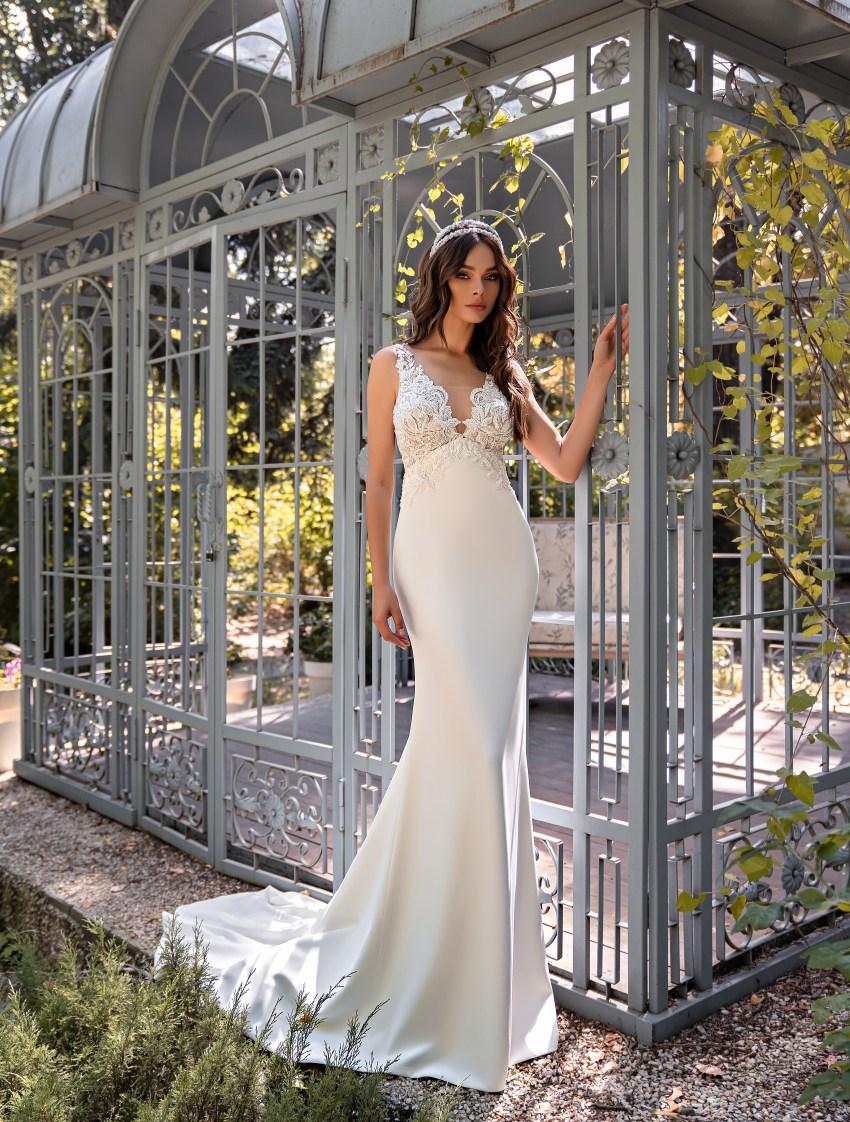 Свадебное платье силуэта «годе»-8