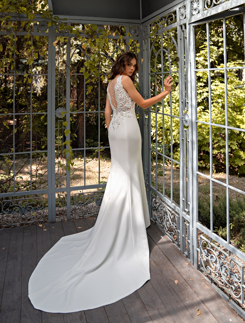 Свадебное платье силуэта «годе»-9