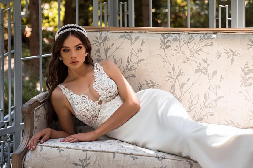 Свадебное платье силуэта «годе»-10