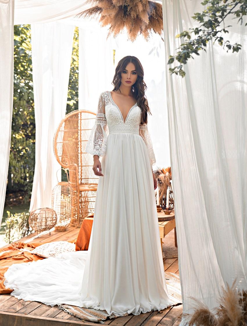 Boho style wedding dress-5