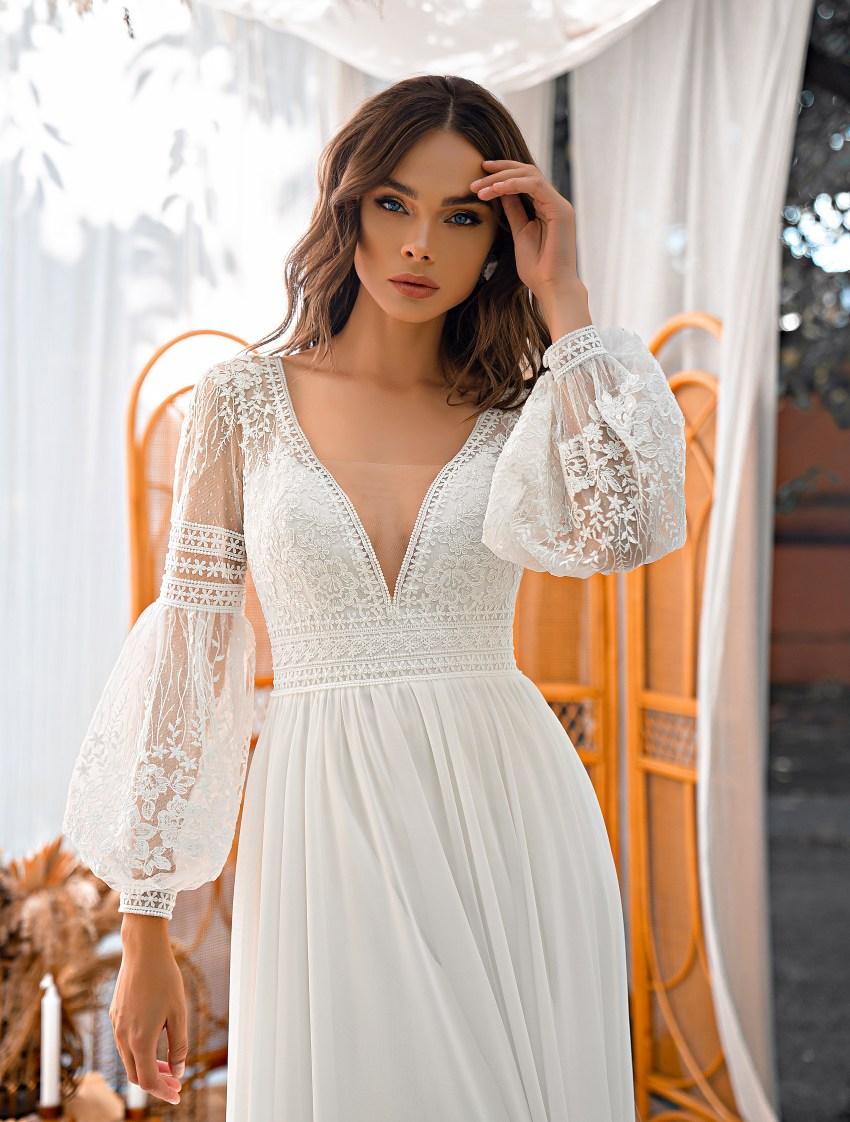 Boho style wedding dress-7