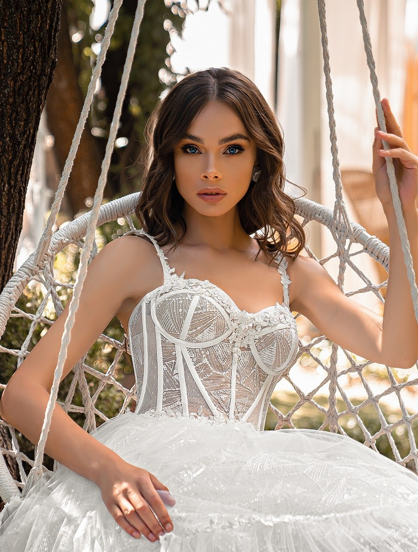 Весільна сукня міді-4
