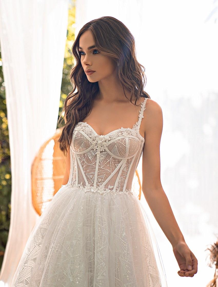 Midi wedding dress-8