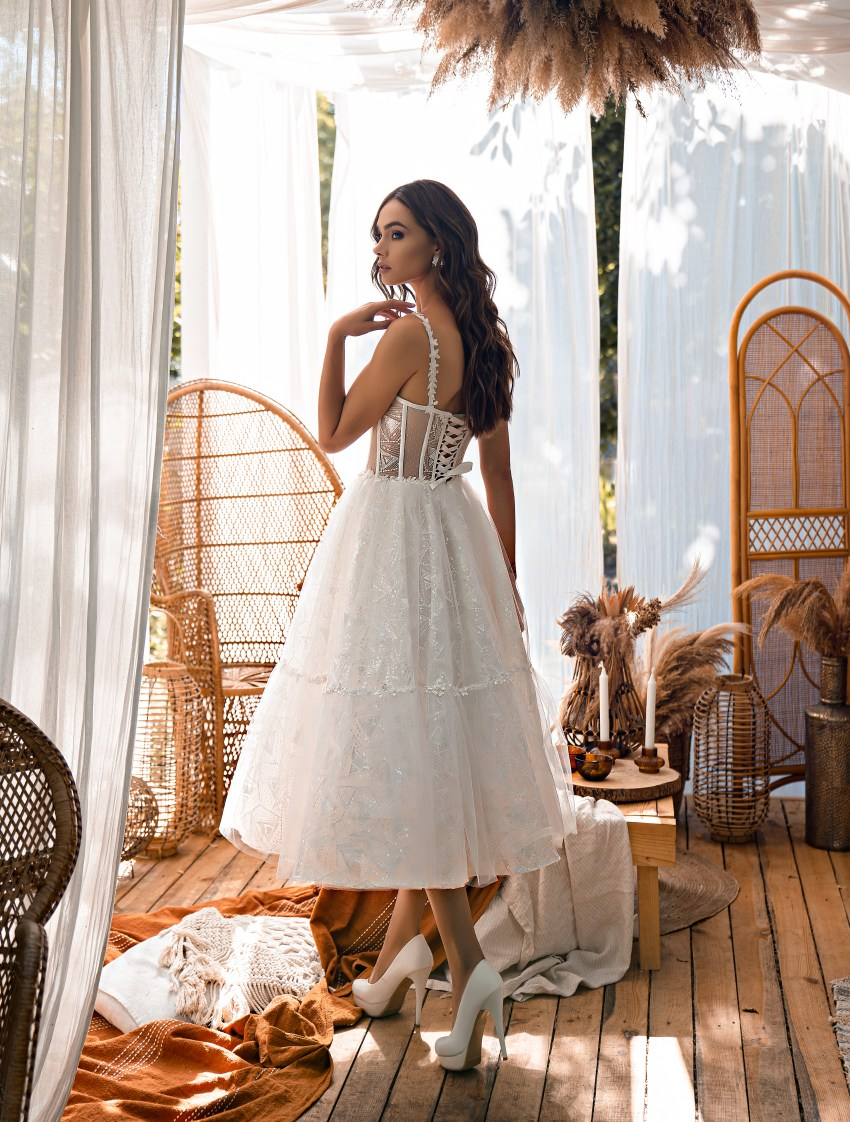 Midi wedding dress-7
