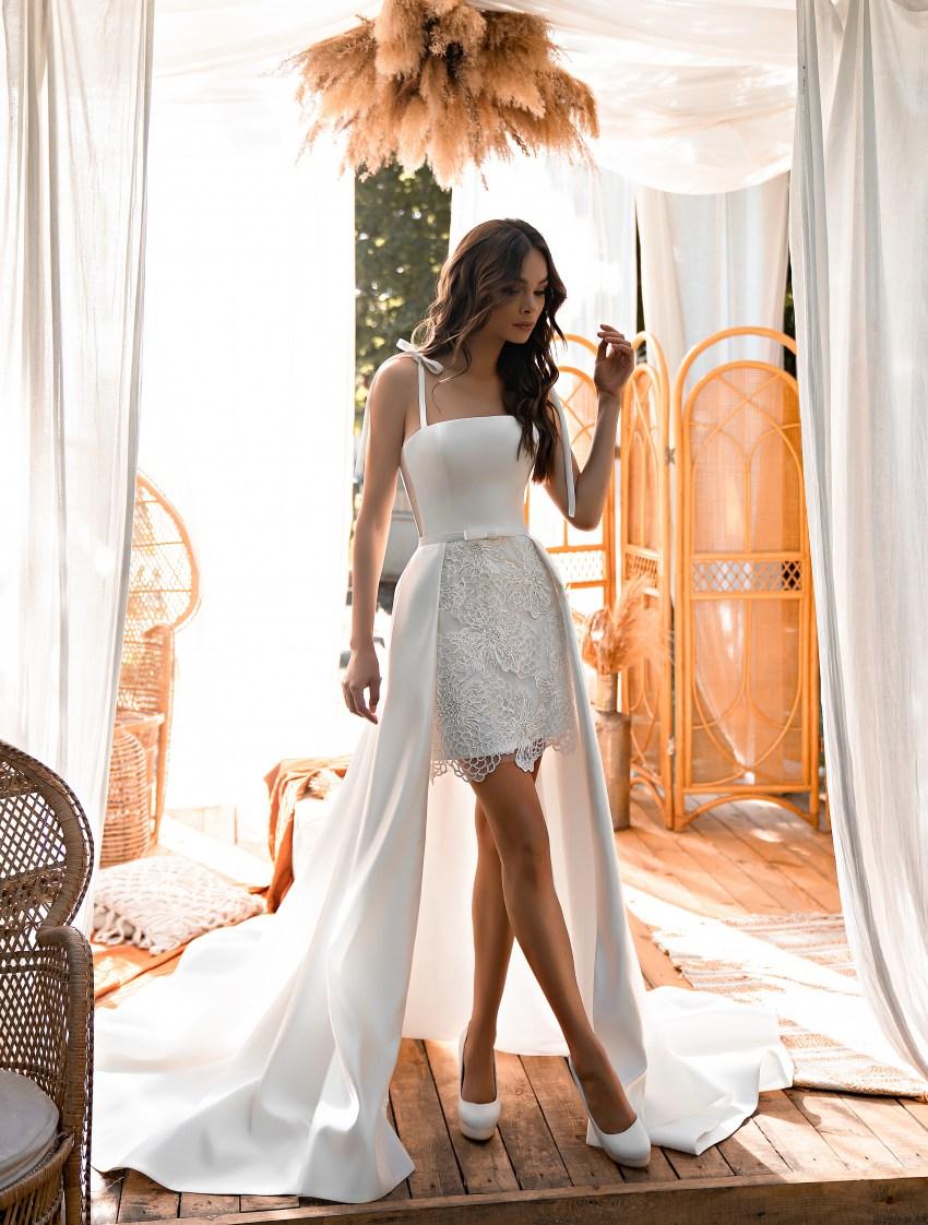 Коротке весільне плаття-5