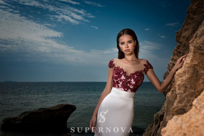 Вечернее платье с юбкой-шлейф-5