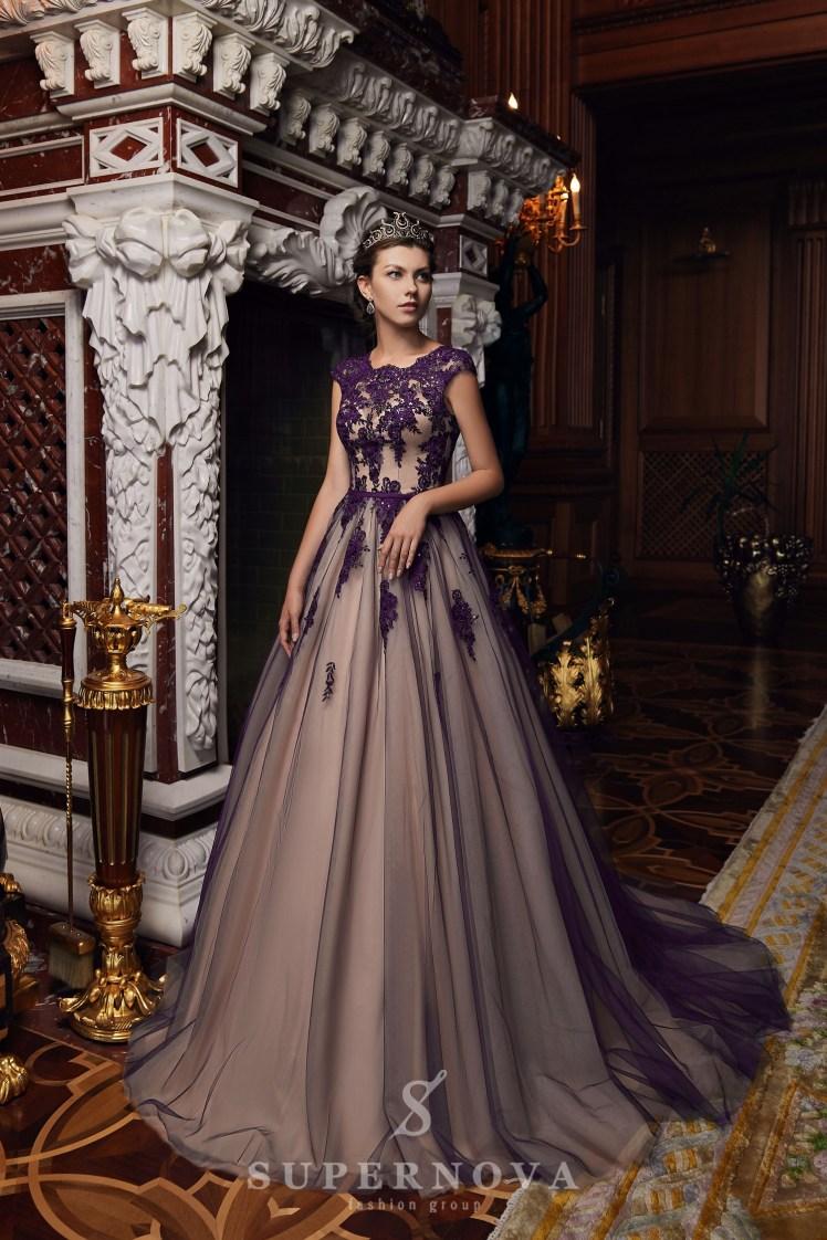 Вечірня сукня з пишною спідницею оптом від Super Nova.-6
