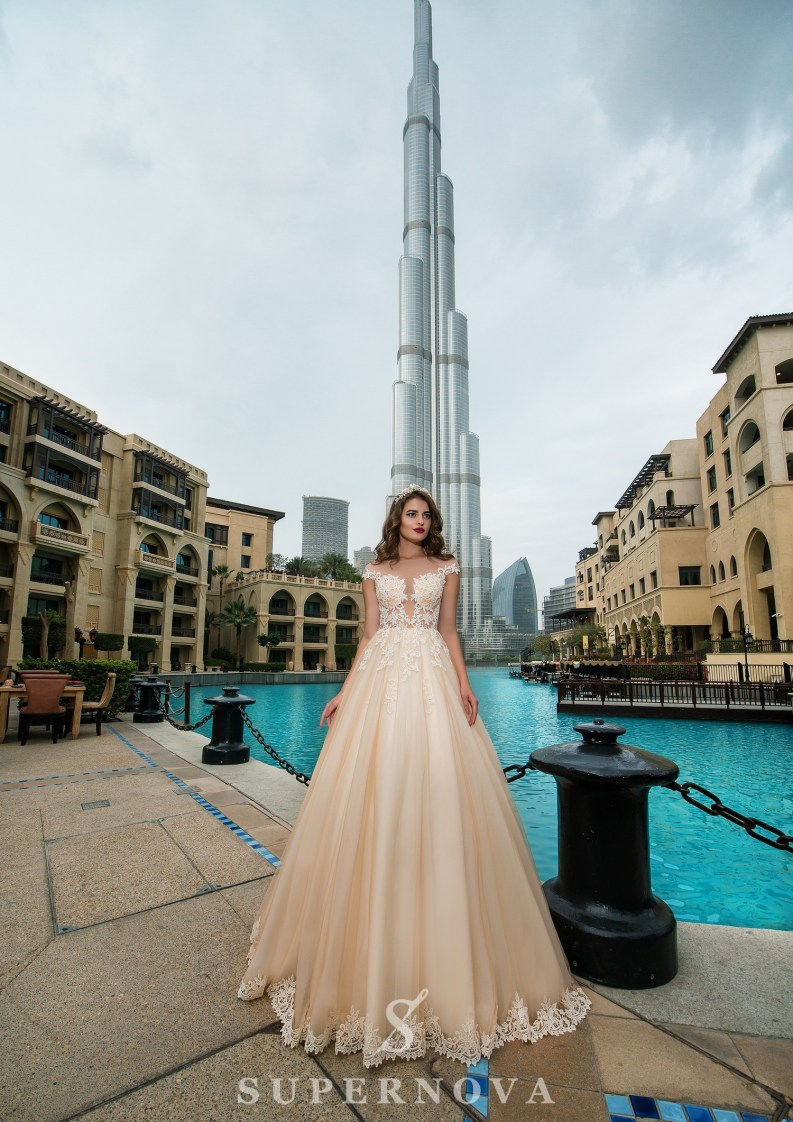 Transparent bodice wedding dress-2