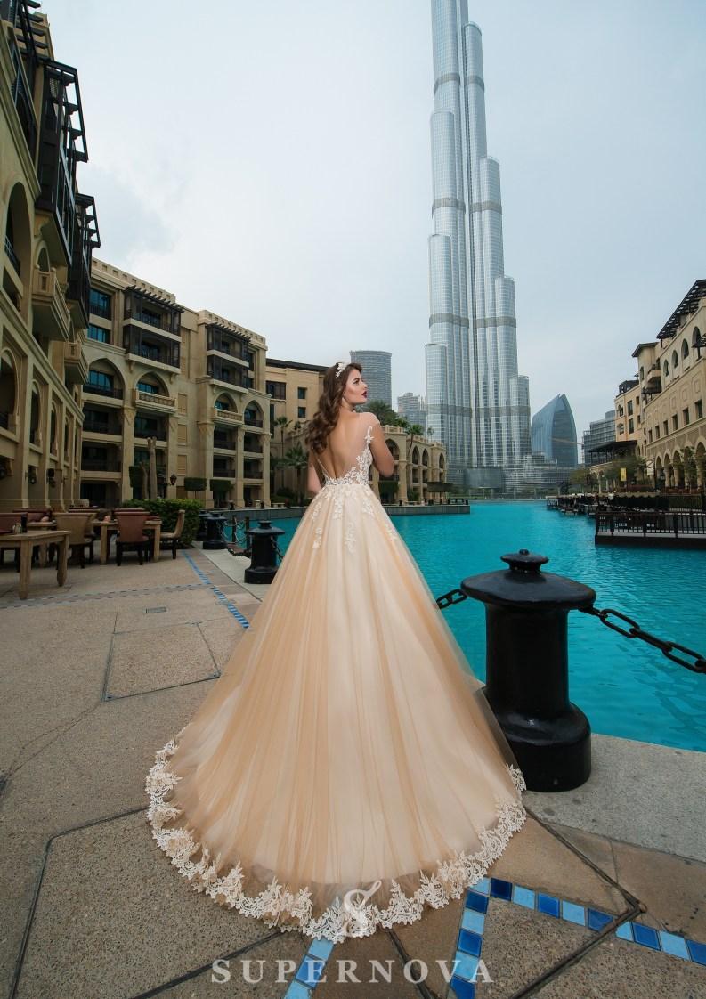 Transparent bodice wedding dress-3