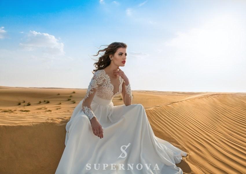 Свадебное платье c вышивкой-1