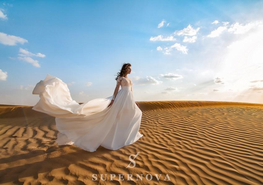 Свадебное платье c вышивкой-2