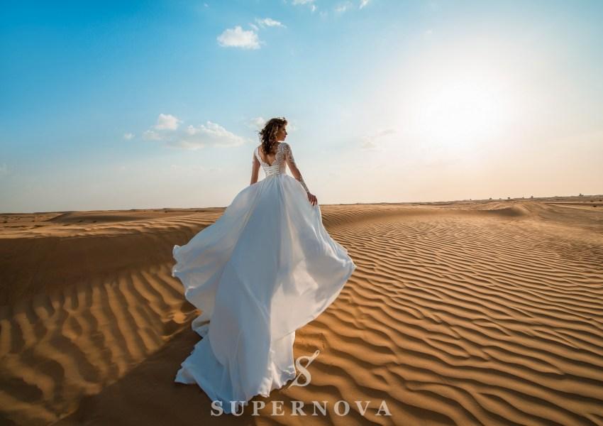 Свадебное платье c вышивкой-4