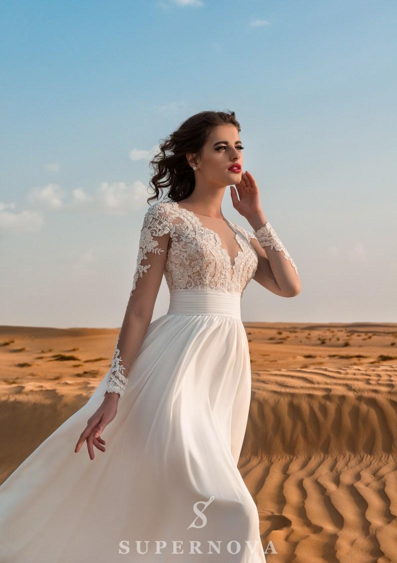 Свадебное платье c вышивкой-3