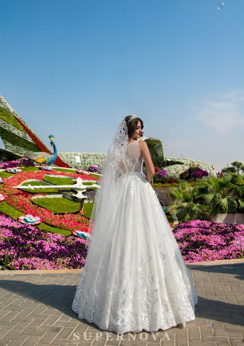 Весільна сукня з корсетом до талії-4