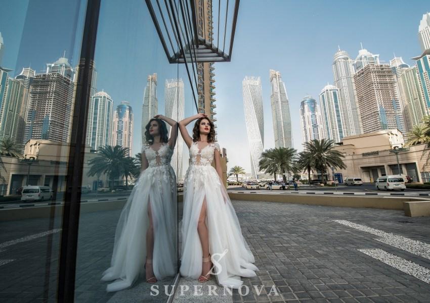 Свадебное платье с разрезом-1