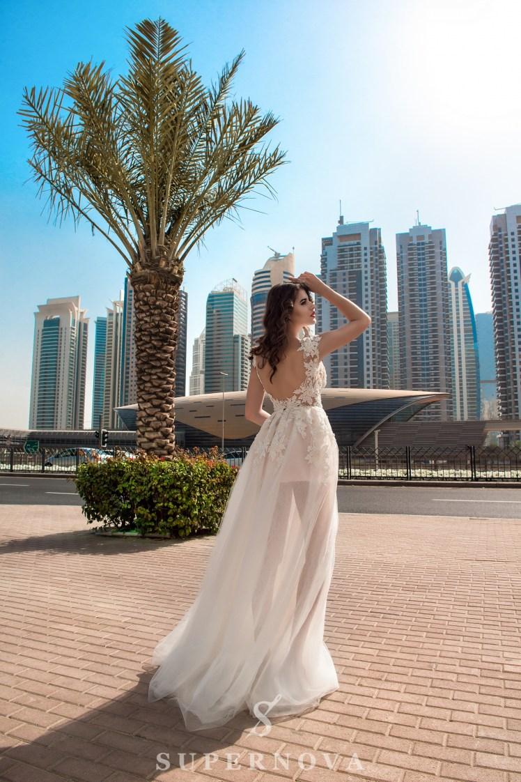 Свадебное платье с разрезом-3