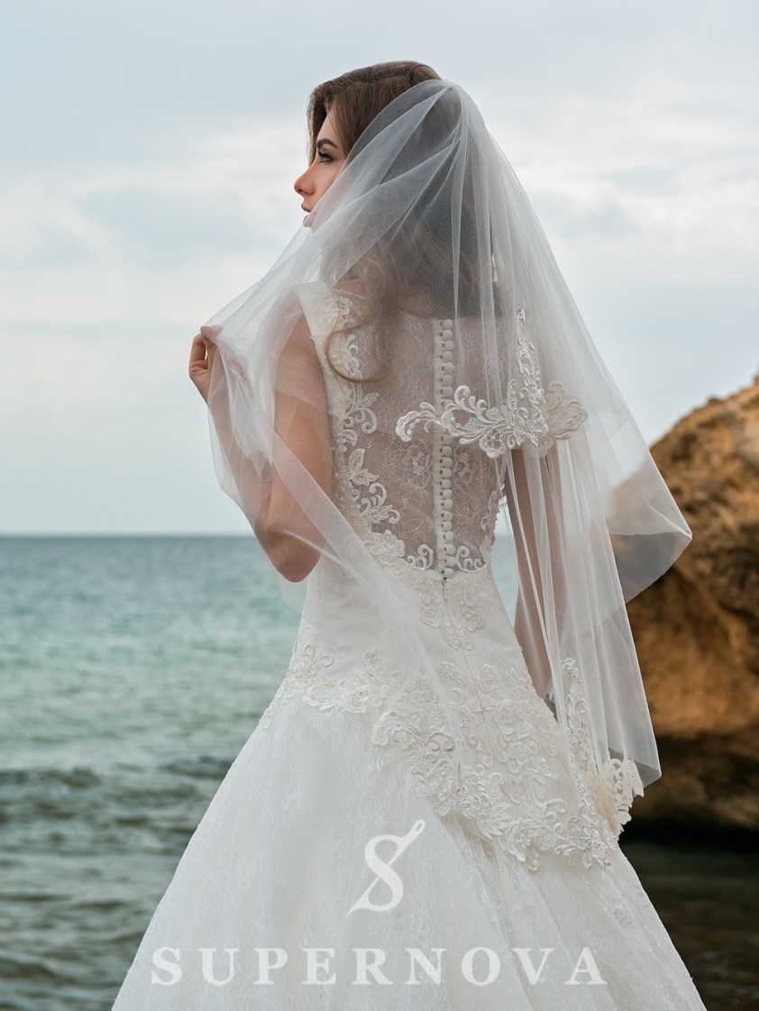 Two tier veil 1x1.5m FN-011