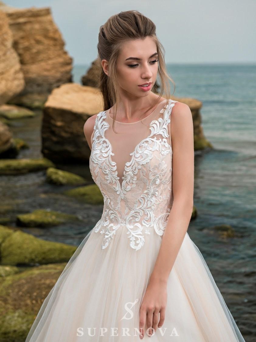 Wedding dress with a caramel corset-2