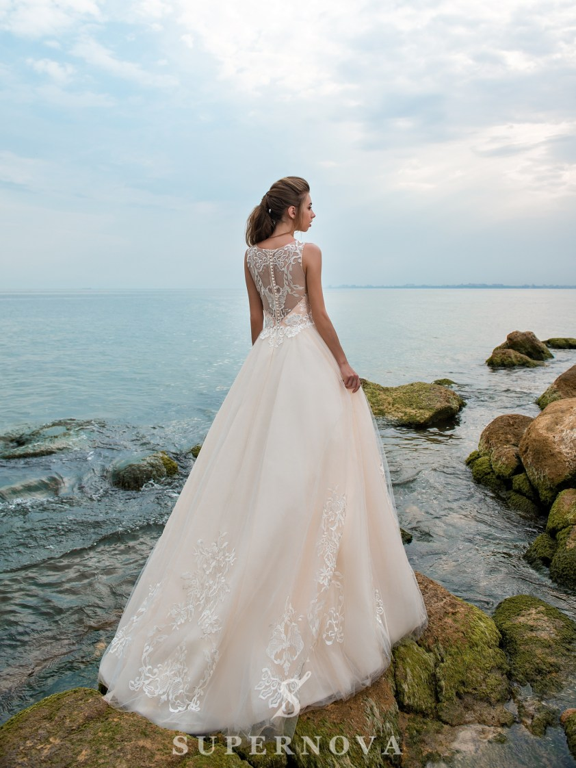 Wedding dress with a caramel corset-3