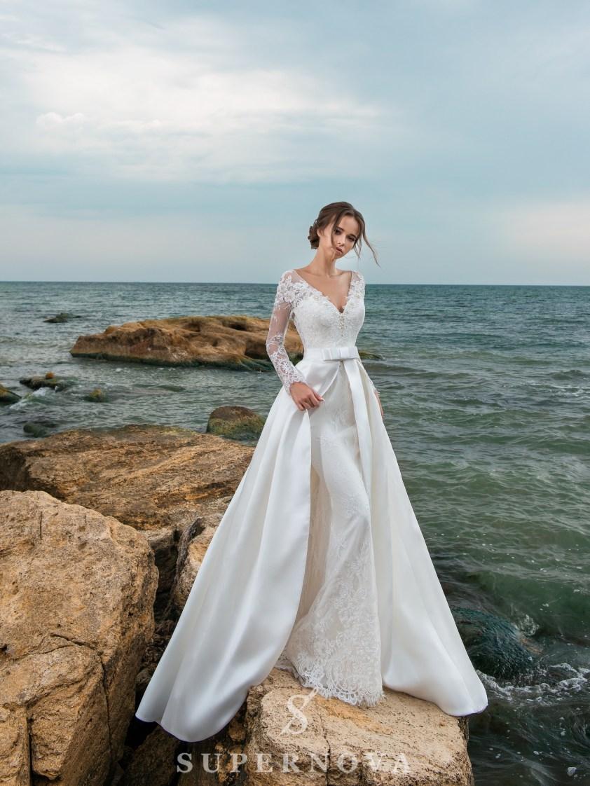Весільний комплект з сукні і шлейфу-2