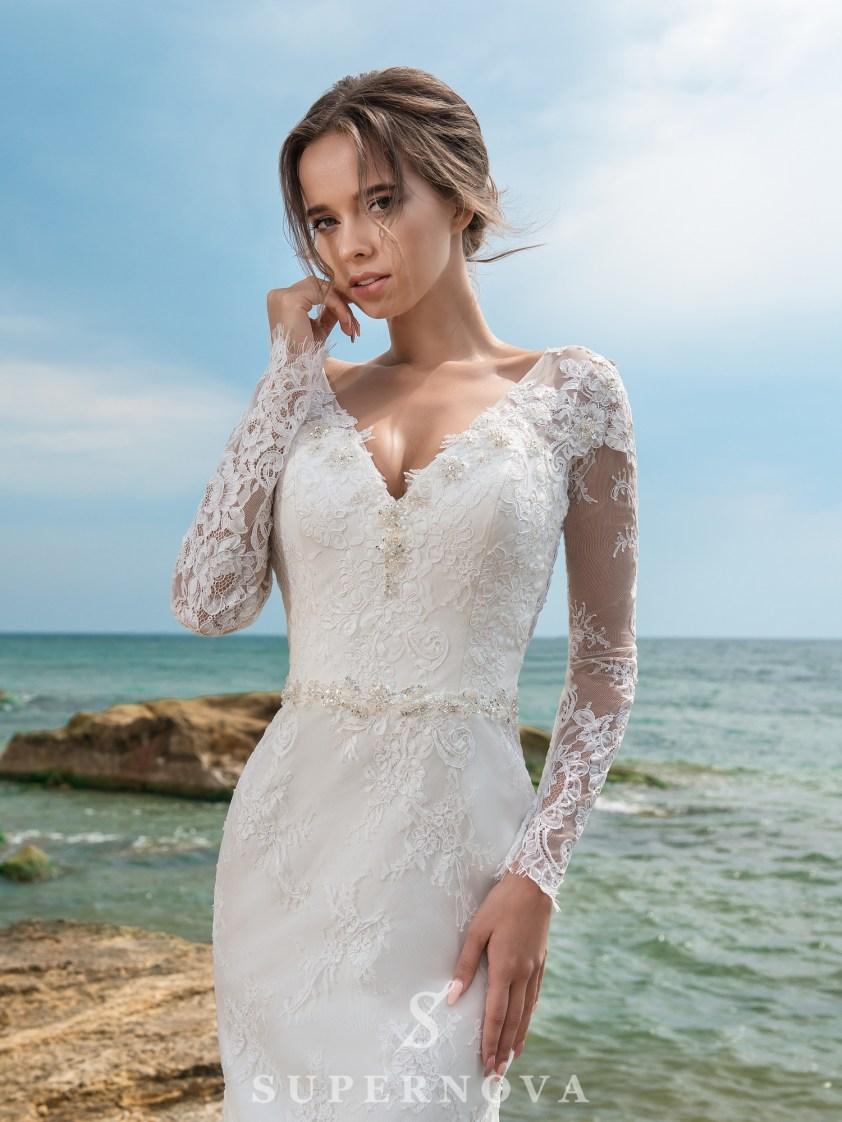 Весільний комплект з сукні і шлейфу-3