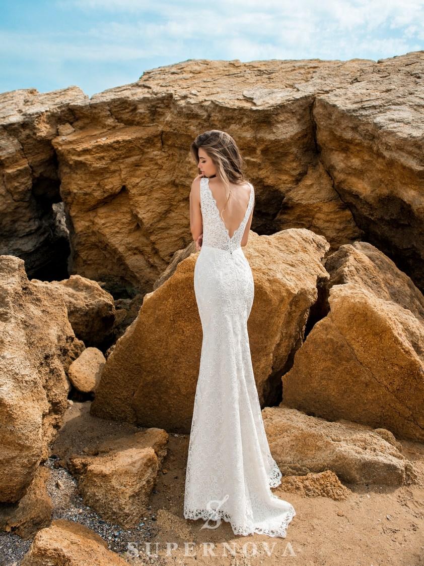Сукня на бретелях силуету «годе»-3