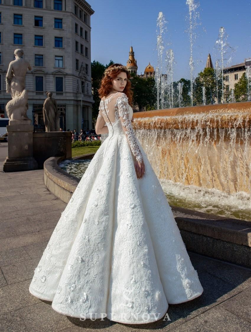 Весільна сукня з тканини-блиску від SuperNova оптом-2