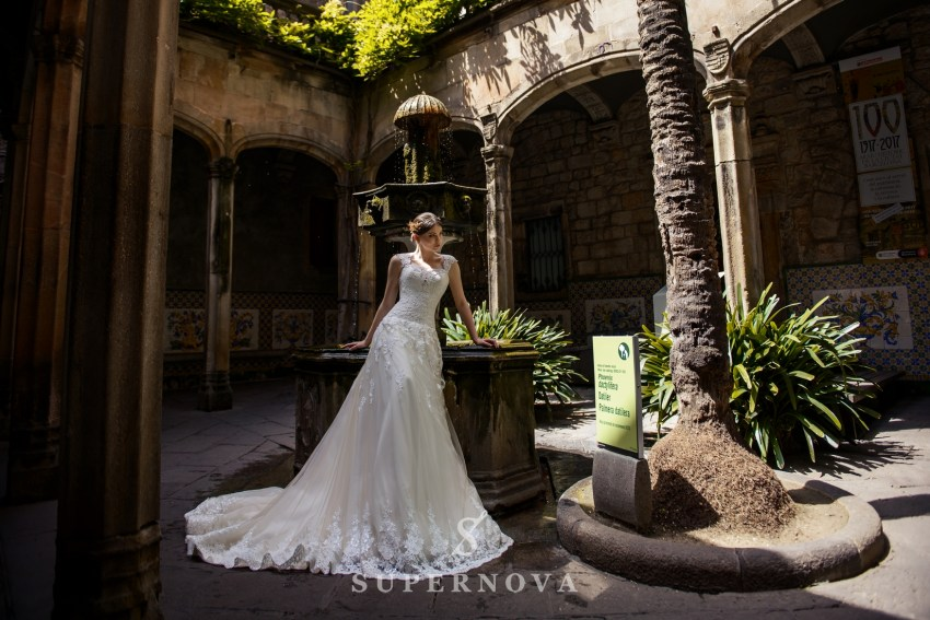 "Wedding dress "" A "" - line from SuperNova wholesale-1"