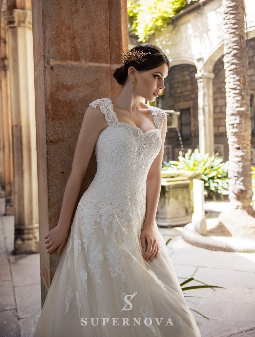 "Wedding dress "" A "" - line from SuperNova wholesale-3"