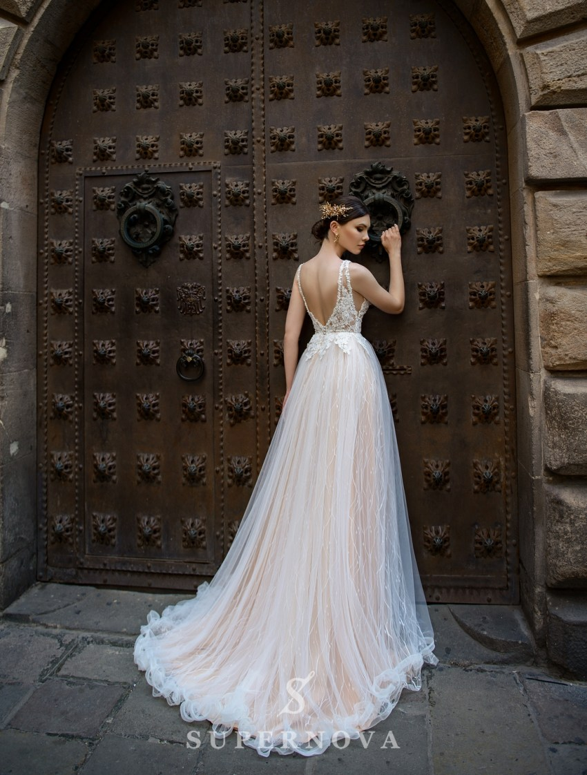 Wedding dress with a deep cut from SuperNova wholesale-2