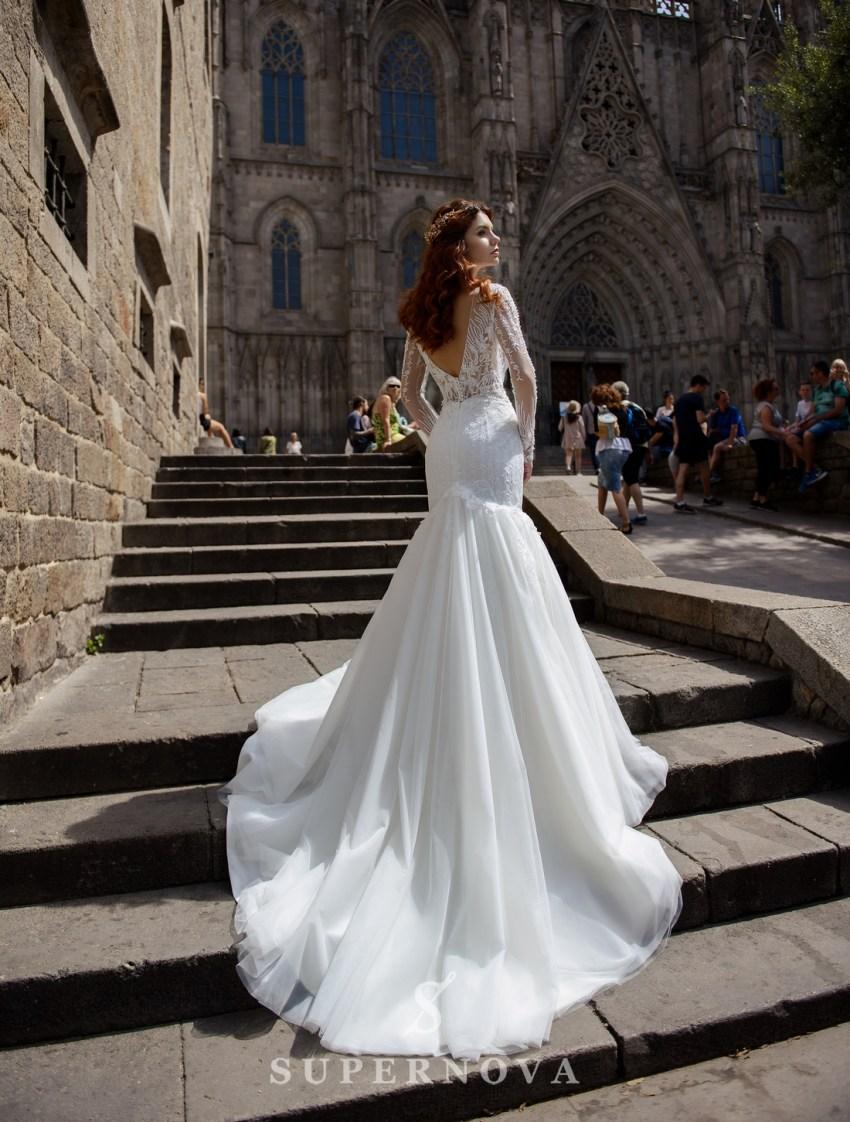 Свадебное платье силуэта «рыбка» от SuperNova оптом-2